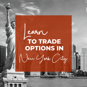 Learn to make monthly income in our options trading chapters. Check us out in New York City!